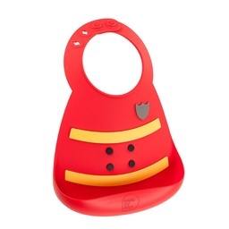 Make my day Bavoir en Silicone de Make My Day/Make My Day Silicone Bib, Pompier/Fireman