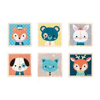 Janod Mes Premiers Cubes de Janod/My First Cubes by Janod, Forest/Forêt