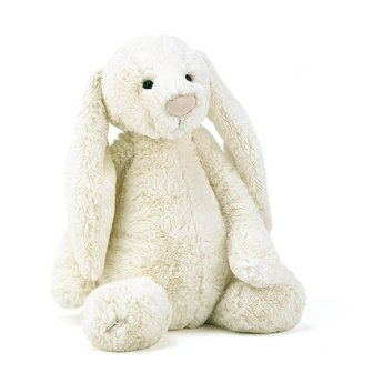 Jellycat Lapin Bashful de Jellycat/Jellycat Bashful Bunny, Crème/Cream, Grand/Large, 15 pouces/inches