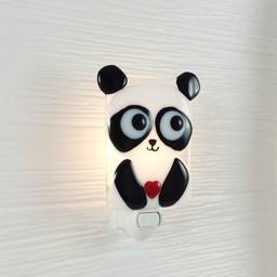 Veille Sur Toi Veille sur Toi - Veilleuse en Verre Elliot le Panda / Nightlight Panda Elliot