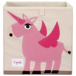3 sprouts 3 Sprouts - Boîte de Rangement/Storage Box, Licorne Rose/Pink Unicorn