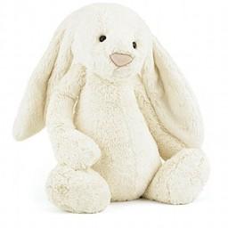 Jellycat Lapin Bashful de Jellycat/Bashful Bunny from Jellycat, Crème/Cream, Moyen/Medium, 12 pouces/12 inches