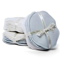 Bouton Jaune Compresses d'Allaitement en Coton Organique de Bouton Jaune/Bouton Jaune Organic Cotton Nursing Pads, Bleu/Blue