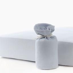 Bouton Jaune Drap Contour en Coton Organique de Bouton Jaune/Bouton Jaune Organic Cotton Fitted Sheet, Bleu/Blue