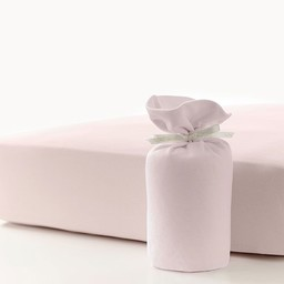 Bouton Jaune Bouton Jaune - Organic Cotton Fitted Sheet, Pink