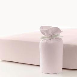 Bouton Jaune Drap Contour en Coton Organique de Bouton Jaune/Bouton Jaune Organic Cotton Fitted Sheet, Rose/Pink