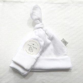 Bouton Jaune Bouton Jaune - Bouton Jaune Organic Cotton Hat and Mitt, White