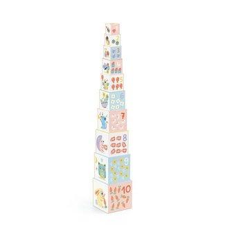 Djeco Djeco- 10 Cubes Gigognes Baby Bloki/ 10 Nestling Cubes Baby Bloki