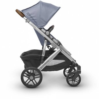 UPPAbaby UPPAbaby Vista 2018 - Poussette Base Aluminium/Stroller Aluminium Frame, Cuir Brun/Brown Leather