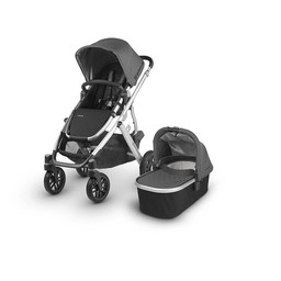 UPPAbaby UPPAbaby Vista 2018 - Poussette Base Aluminium/Stroller Aluminium Frame, Cuir Noir/Black Leather