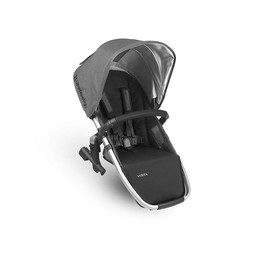 UPPAbaby UPPAbaby Vista 2018 - Siège Auxilliaire pour Poussette Base Aluminium/Rumble Seat for Stroller Aluminium Frame, Cuir Noir/Black Leather