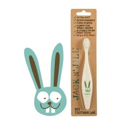 Jack&Jill Jack & Jill - Brosse à Dents Lapin Biodégradable/Bio Toothbrush Bunny Biodegradable