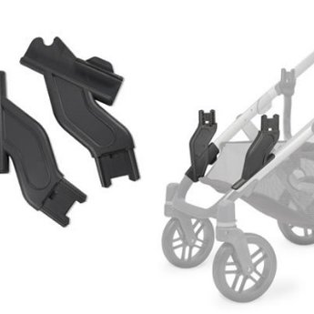 Uppababy Vista Adaptateurs Inferieurs En Occupation Double Lower Adapters For Vista Stroller In Double Occupancy