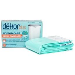 Dékor Dékor - Paquet de 2 Recharge Bio pour Poubelle à Couches Plus/Plus 2 Pack Refill Bio for Diaper Disposal