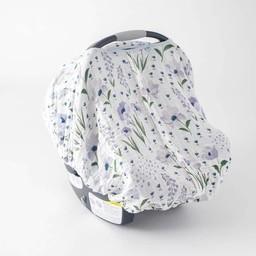 Little Unicorn Little Unicorn - Abri pour Siège de Voiture/Car Seat Canopy, Fleur Bleue/Blue Windflower