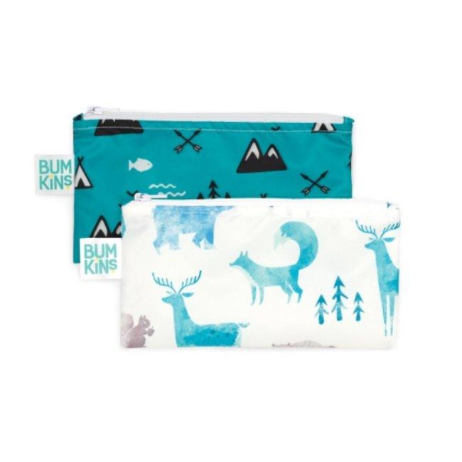 Bumkins Bumkins - Reusable Snack Bag 2 Pk, Outdoor