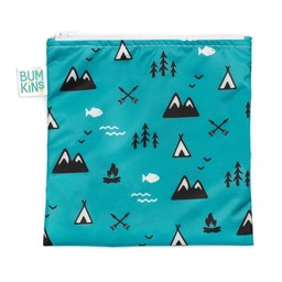Bumkins Bumkins - Grand Sac à Collation Réutilisable/Large Reusable Snack Bag, Nature/Outdoor