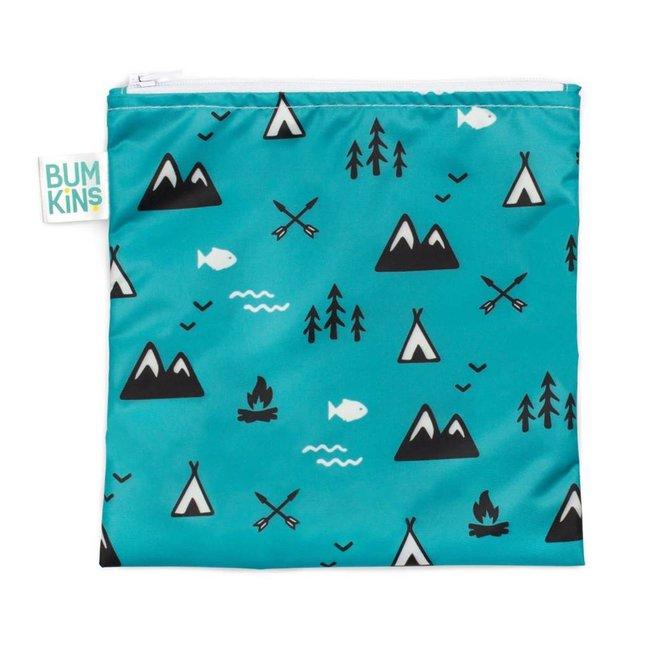 Bumkins Bumkins - Grand Sac à Collation Réutilisable/Large Reusable Snack Bag, Nature/Outdoor