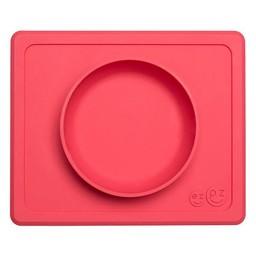 Ezpz EzPz - Napperon et Bol Tout-en-Un, Mini Bowl/Mini Bowl, Placemat + Bowl In One, Rose/Pink