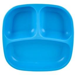 Re-Play Re-Play - Assiette à Compartiments/Divided Plates, Bleu Ciel/Sky Blue
