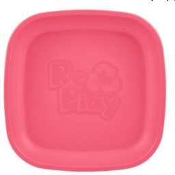 Re-Play Re-Play - Assiette de Plastique/Plastic Plate, Rose Fille/Bright Girly Pink