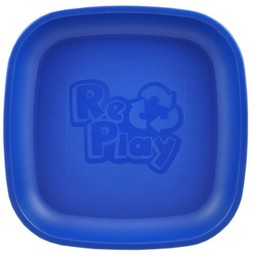 Re-Play Re-Play - Assiette de Plastique/Plastic Plate, Marine/Navy