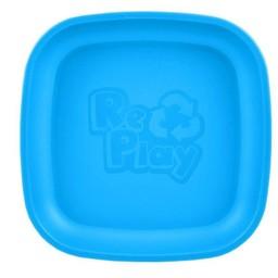 Re-Play Re-Play - Assiette de Plastique/Plastic Plate, Bleu Ciel/Sky Blue