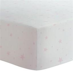 Kushies Kushies - Drap Contour pour Parc /Baby Portable Play Pen Sheet, Étoile Rose/Pink Stars