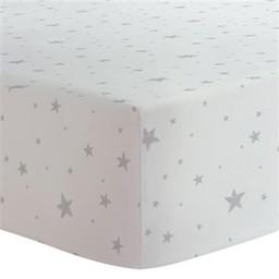 Kushies Kushies - Couvre-Matelas à Langer en Flanelle/Flannel Change Pad Fitted Sheet, Étoiles Grises/Grey Stars
