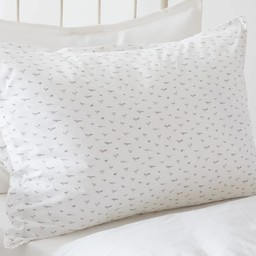 "Bouton Jaune Bouton Jaune - Cache-Oreiller Bande Plate 21.5""x27.5""/Cover Pillow 21.5""x27.5"", Liberté, Oiseaux Gris/Grey Birds"
