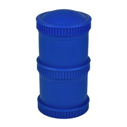 Re-Play Re-Play - Ensemble de Contenants Empilables (2 Pots et 1 Couvercle)/Snack Stack Open Stock ( 2 Pod Base and 1 Lid), Marine/Navy