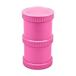 Re-Play Re-Play - Ensemble de Contenants Empilables (2 Pots et 1 Couvercle)/Snack Stack Open Stock ( 2 Pod Base and 1 Lid), Rose Fille/Bright Girly Pink