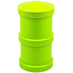 Re-Play Re-Play - Ensemble de Contenants Empilables (2 Pots et 1 Couvercle)/Snack Stack Open Stock ( 2 Pod Base and 1 Lid), Vert Lime/Lime Green