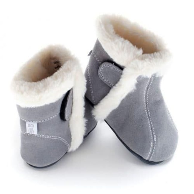 Jack & Lily Jack & Lily - Mocassin Botillons/ My Moc Boots, Kian, Suède Gris/Grey Suede