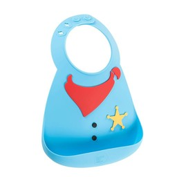 Make my day Make MY Day - Bavoir en Silicone/Silicone Bib, Shérif/Sheriff
