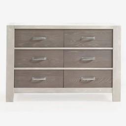 Natart Juvenile Natart Rustico Moderno - Commode Double/Double Dresser, Blanc-Hibou/White-Owl