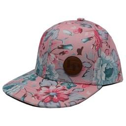L&P L&P - Casquette Hesperia II/Hesperia II Cap, Rose avec Fleurs/Pink with Flowers