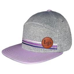 L&P L&P - Casquette Portland/Portland Cap, Gris et Mauve/Grey and Purple
