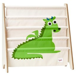 3 sprouts 3 Sprouts - Support à Livres/Book Rack, Dragon Vert/Green Dragon