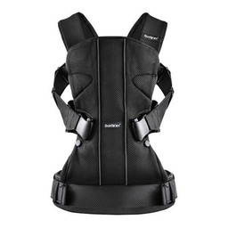 BabyBjörn BabyBjörn - Porte-Bébé One AIR/One AIR Baby Carrier, Filet Noir/Black Mesh