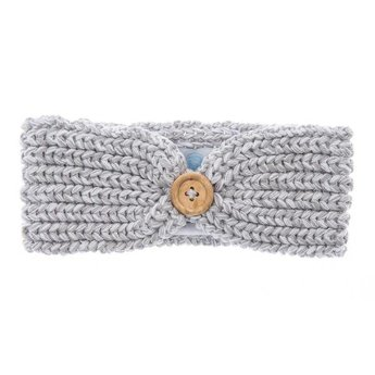 Beba Bean Bandeau en Tricot de Beba Bean/Beba Bean Knit Headband, Gris/Grey