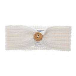 Beba Bean Bandeau en Tricot de Beba Bean/Beba Bean Knit Headband, Ivoire/Ivory