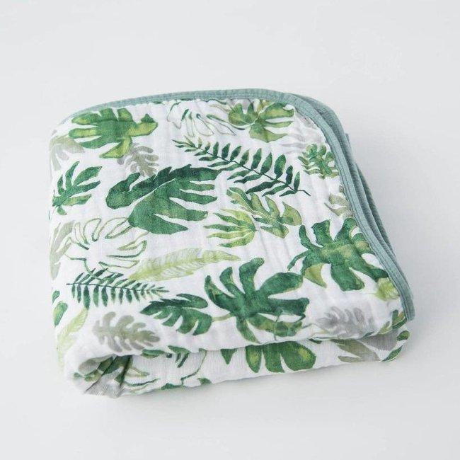 Little Unicorn Little Unicorn - Cotton Muslin Quilt, Tropical Leaf