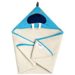 3 sprouts 3 Sprouts - Serviette à Capuchon/Hooded Towel, Morse Bleu/Blue Walrus