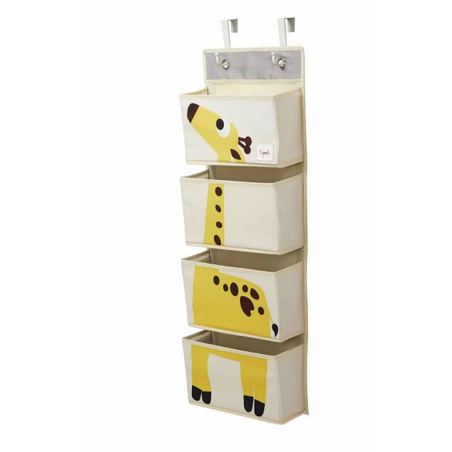 3 sprouts 3 Sprouts - Hanging Wall Organizer, Yellow Giraffe