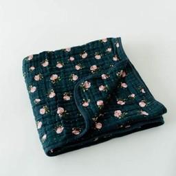 Little Unicorn Little Unicorn - Couette en Mousseline de Coton/Cotton Muslin Quilt, Rose de Minuit/Midnight Rose
