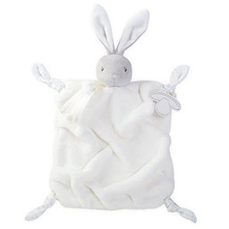 Kaloo Kaloo - Doudou Lapin Plume/Plume Rabbit Soother, Crème/Cream
