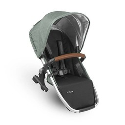 UPPAbaby Uppababy, Vista 2018 - Siège Auxilliaire pour Poussette Base Aluminium/Rumble Seat for Stroller Aluminium Frame, Cuir Brun/Brown Leather