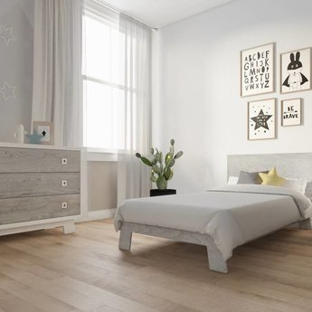 Dutailier Dutailier Pomelo - Lit de Bébé Convertible/Convertible Crib, Gris Rustique/Rustic Grey