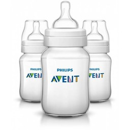 Philips Avent Philips AVENT - Ensemble de 3 Biberons Naturels 9oz/Set of 3 Natural Bottles, 9oz